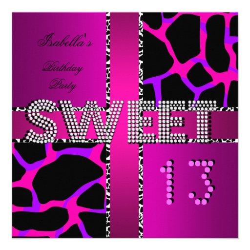 Zebra And Pink Invitations for nice invitation template