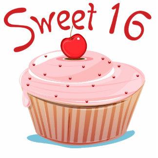 Sweet 16 16th Birthday Cupcake Standing Photo Sculpture