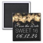 Sweet 16 Birthday Party Gold Bokeh Lights