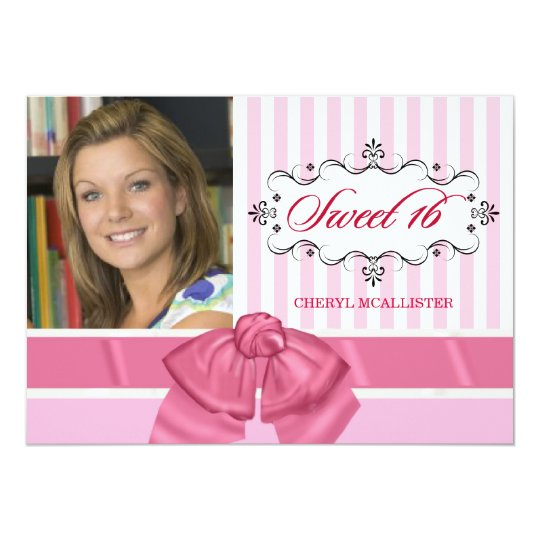 Sweet 16 Birthday Party Invitations with Photo