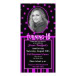 Sweet 16 Birthday Photo Card Invitation