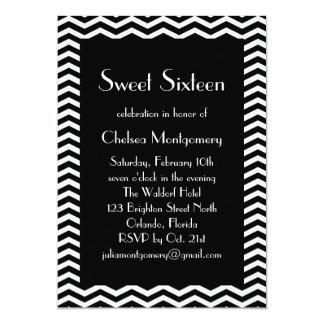 Sweet 16 Black and White 1920's Invitation