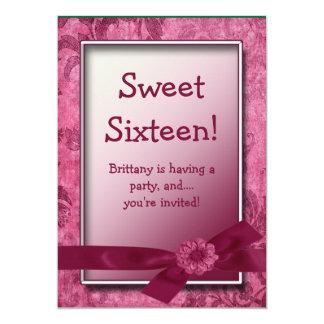 Sweet 16 Burgundy Birthday Party Invitation