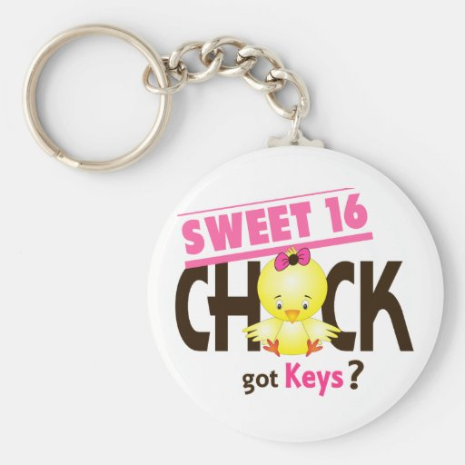Sweet 16 Chick 1 Key Chains
