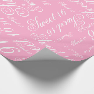 Sweet 16 Custom Color Wrapping Paper