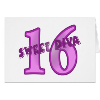 Sweet 16 Diva Card