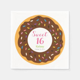 Sweet 16 Donut Disposable Napkin