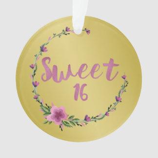 Sweet 16 Flowers Ornament