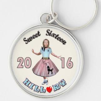 Sweet '16 Hillary for President Key Ring