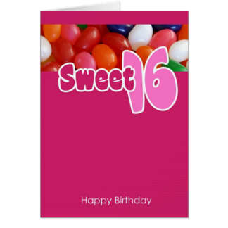 Sweet 16 Jelly Beans Card