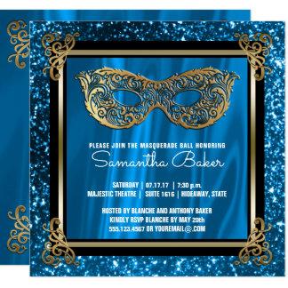 Sweet 16 Masquerade | Blue Sweet Sixteen Birthday Card