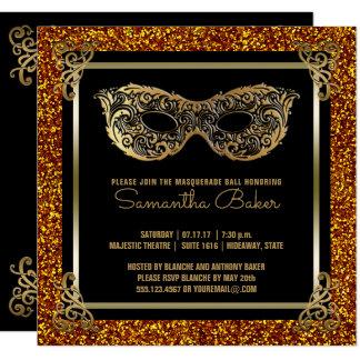 Sweet 16 Masquerade | Sweet Sixteen Gold Black Card