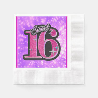 Sweet 16 Napkins Disposable Napkins