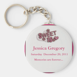 Sweet 16 Party Favors Key Ring