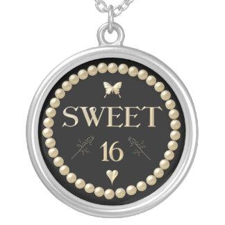 "Sweet 16 - Pearls on black ""velvet"" Necklaces"