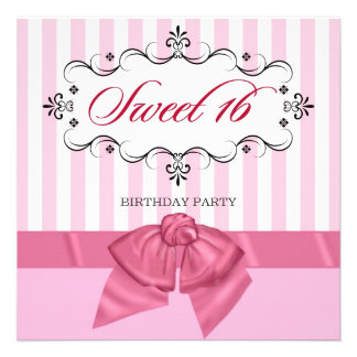 Sweet 16 - Personalized Birthday Party Invitations