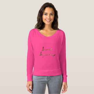 Sweet 16 Pink and Gold Look Typography Elegant T-Shirt
