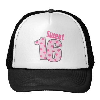 Sweet 16 (Pink Dots And Stars) Cap