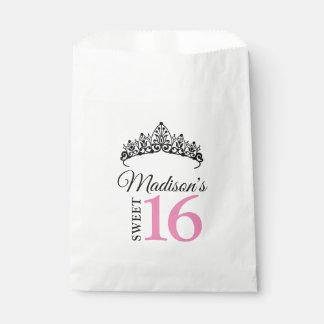 Sweet 16 Princess Thank You Favor Candy Bar Buffet Favour Bag