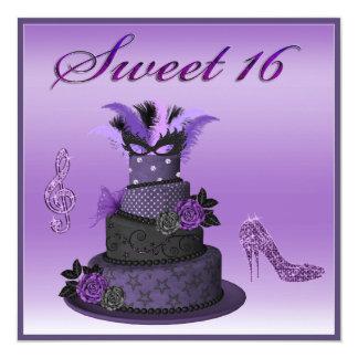 Sweet 16 Purple Diva Cake, Sparkle High Heels Card