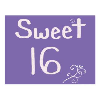 Sweet 16 Purple Postcard