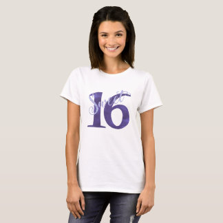 Sweet 16 Purple | Watercolor 16th Birthday Party T-Shirt