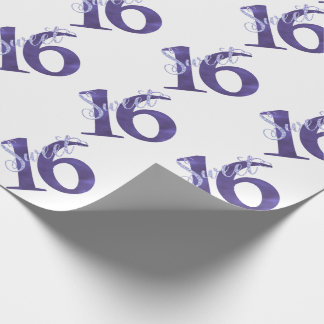 Sweet 16 Purple | Watercolor Violet 16th Birthday Wrapping Paper