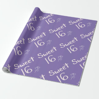 Sweet 16 Purple Wrapping Paper