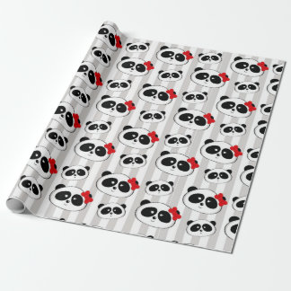 Sweet 16 Quinceanera Panda Wrapping Paper