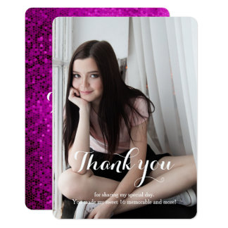 Sweet 16 Thank You Card