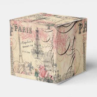 Sweet 16 Thank You Eiffel Tower & Chandelier Wedding Favour Box