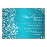 Sweet 16 Winter Wonderland Sparkle Snowflakes 13 Cm X 18 Cm Invitation Card
