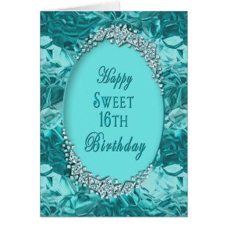 SWEET 16TH - BIRTHDAY _ BLUE ICE CARD