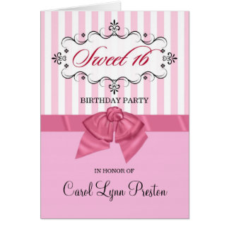 Sweet 16th Birthday Party Invitations