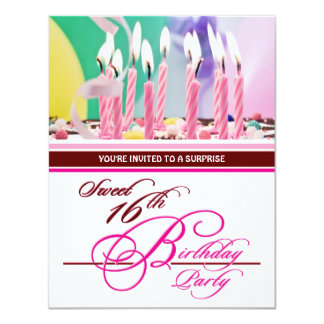 Sweet 16th Birthday Party Invitations - Surprise