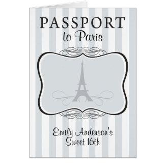 Sweet 16th Passport Invitation
