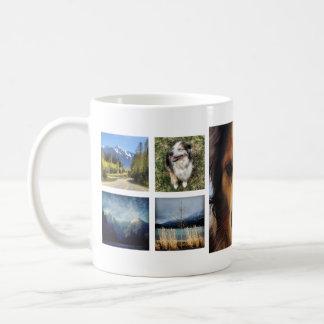 Sweet 9 Instagram Photos Collage Basic White Mug