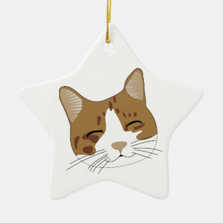 sweet, a happy cat cat christmas tree ornament