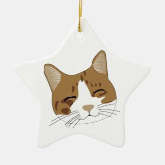 sweet, a happy cat cat christmas tree ornament