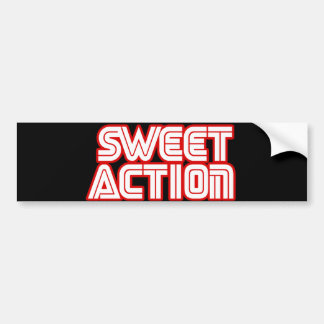 Sweet Action College Retro 80s Humor Bumper Sticker