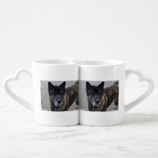 Sweet Akita Dog Couples Mug
