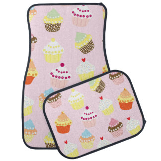 Sweet and Colorful Cupcake Pattern Car Mat