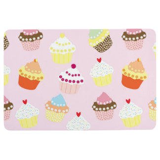 Sweet and Colorful Cupcake Pattern Floor Mat