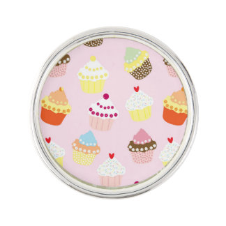 Sweet and Colorful Cupcake Pattern Lapel Pin