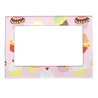 Sweet and Colorful Cupcake Pattern Magnetic Frame