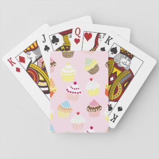 Sweet and Colorful Cupcake Pattern Playing Cards