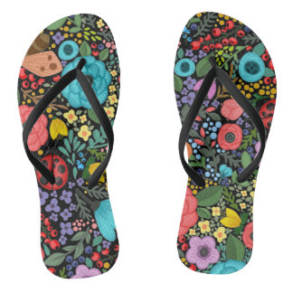Sweet and Colorful  Floral Ditsy | Flip Flops