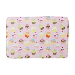 Sweet and Colourful Cupcake Pattern Bath Mat