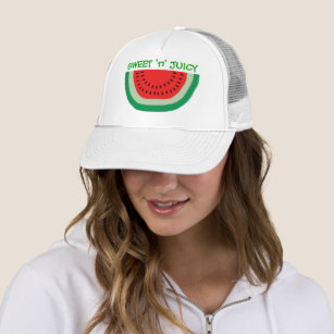 Sweet and Juicy Cartoon Watermelon Colourful Trucker Hat