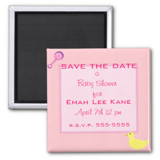 Sweet and pink square magnet